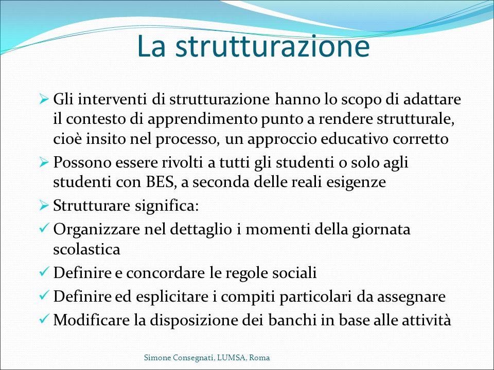 La strutturazione