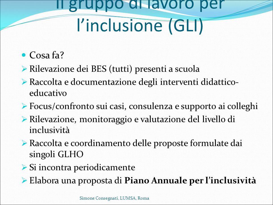 Il gruppo di lavoro per l'inclusione (GLI)