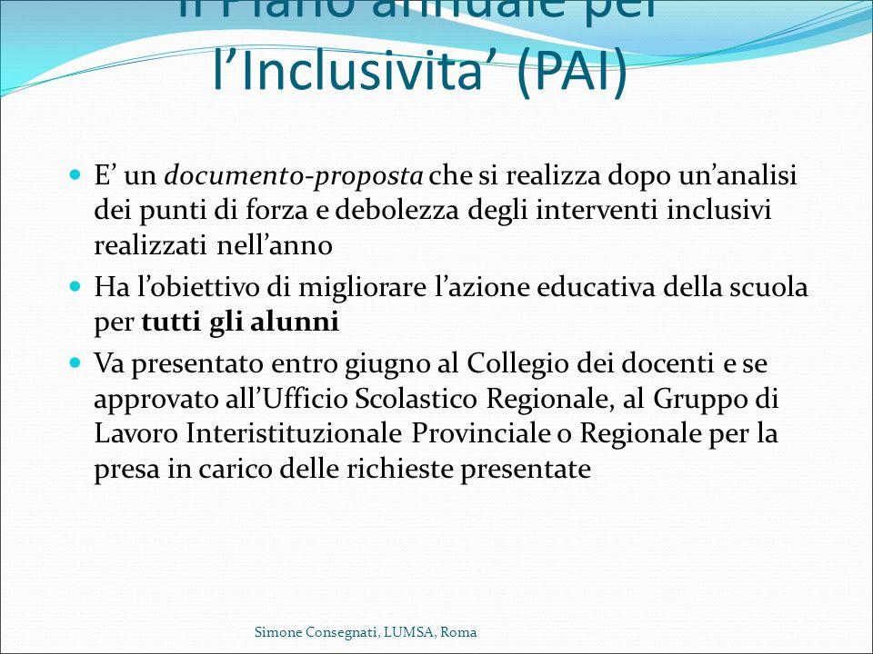 Il Piano annuale per l'Inclusivita' (PAI)
