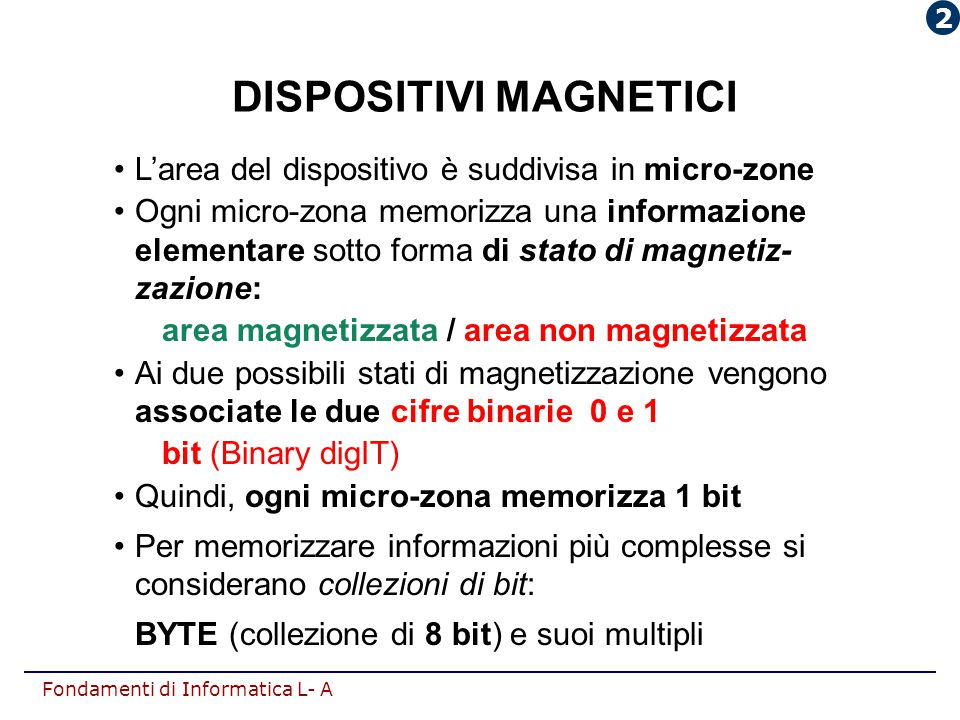 DISPOSITIVI MAGNETICI