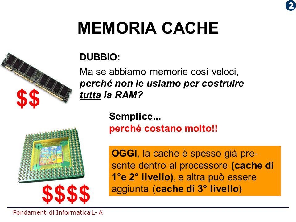 $$ $$$$ MEMORIA CACHE DUBBIO: