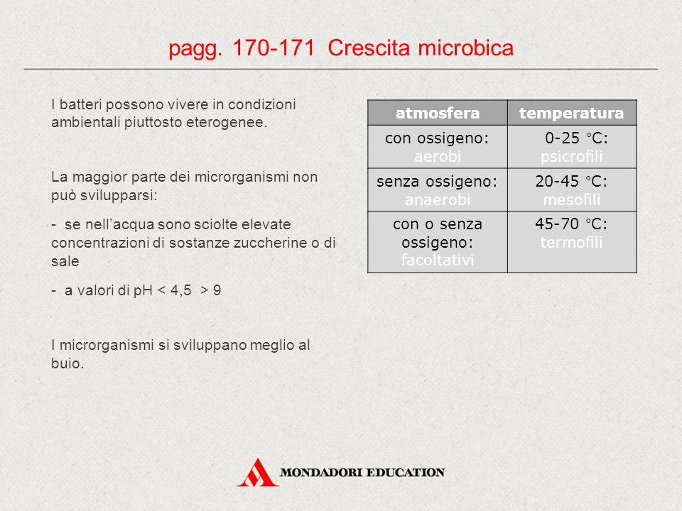 pagg. 170-171 Crescita microbica