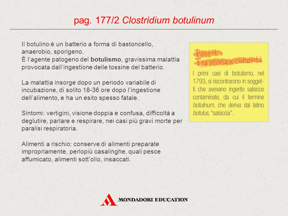 pag. 177/2 Clostridium botulinum