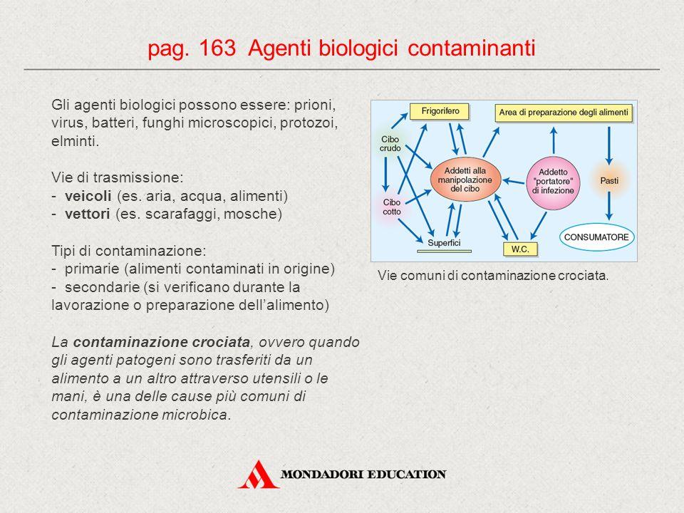 pag. 163 Agenti biologici contaminanti