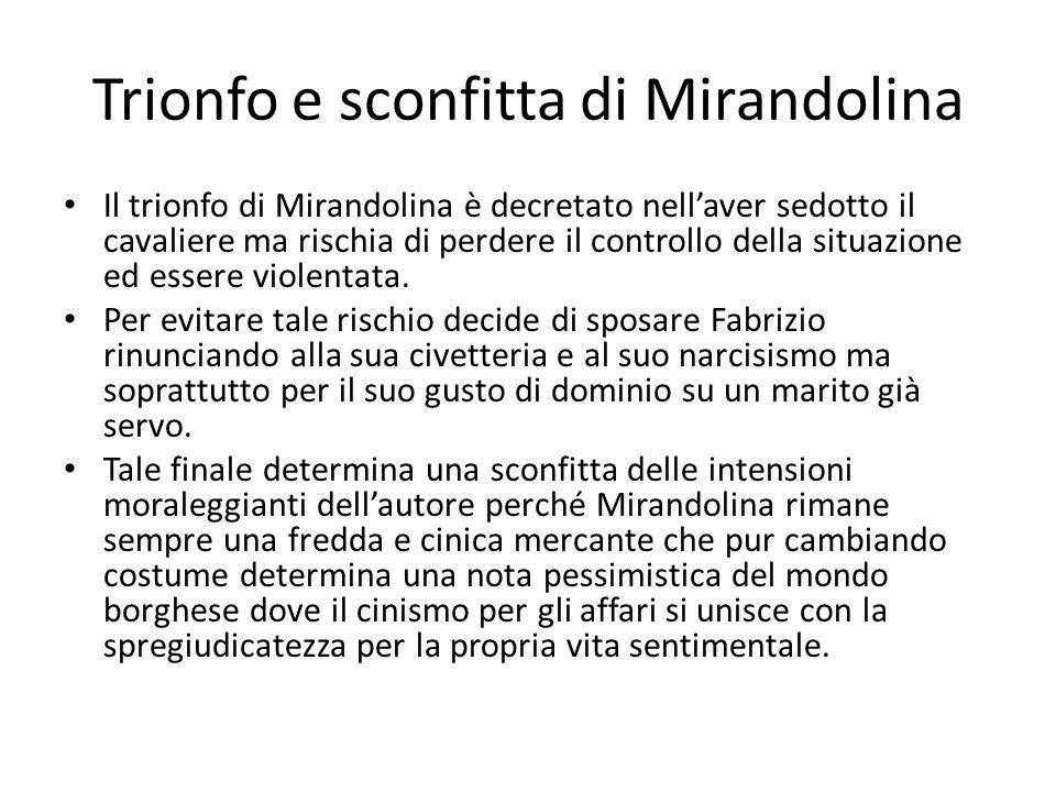 Trionfo e sconfitta di Mirandolina