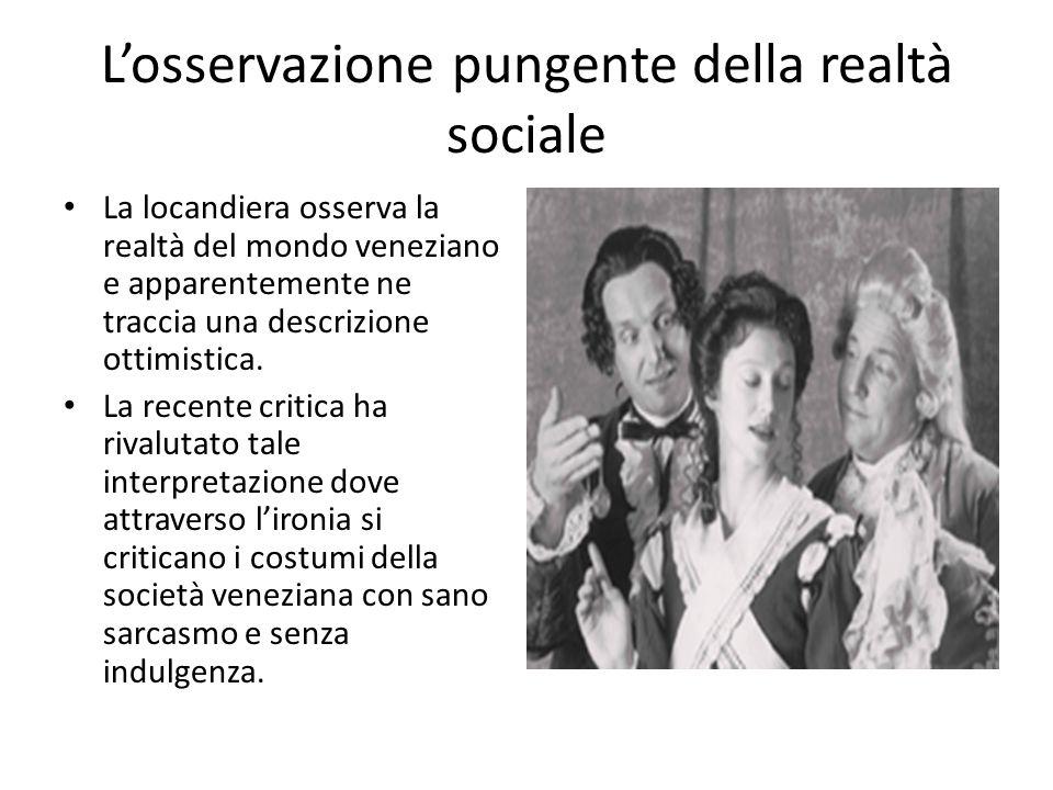 L'osservazione pungente della realtà sociale