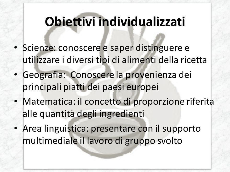 Obiettivi individualizzati
