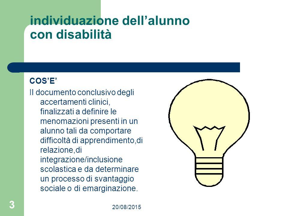 individuazione dell'alunno con disabilità