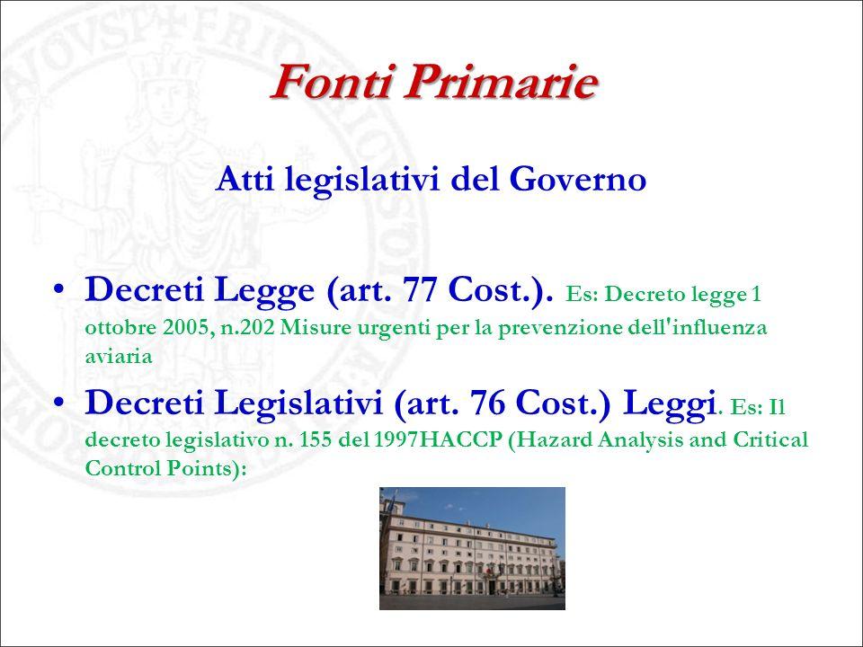 Atti legislativi del Governo