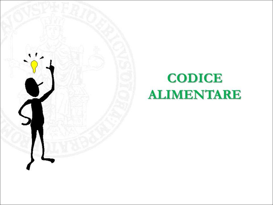 CODICE ALIMENTARE