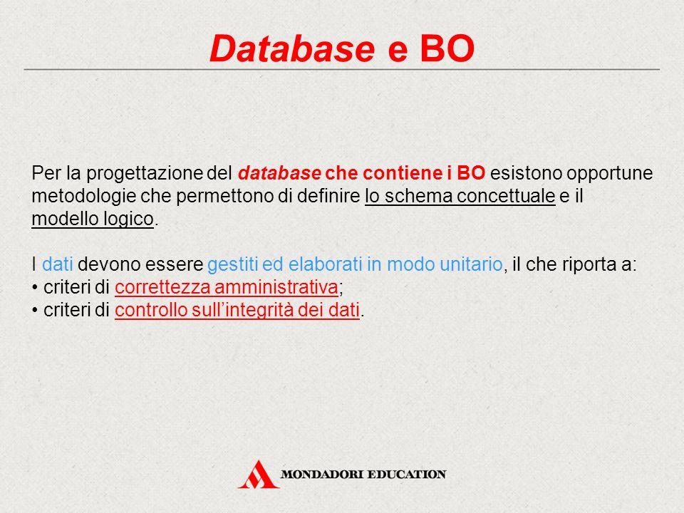 Database e BO