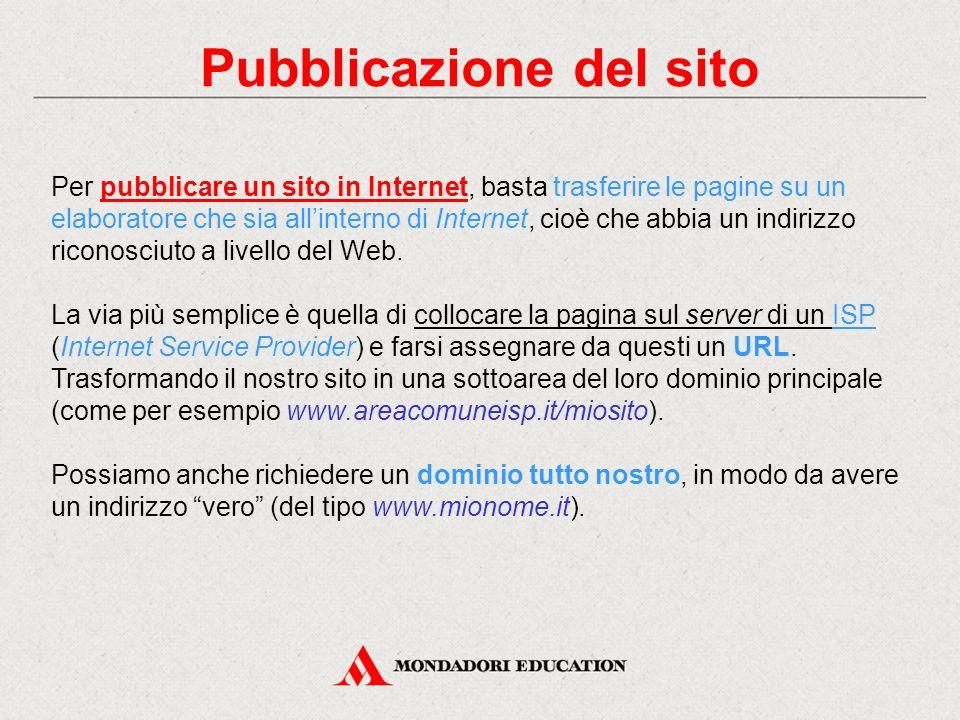Pubblicazione del sito