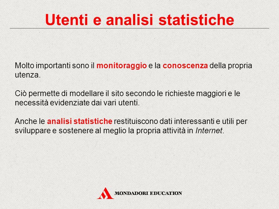 Utenti e analisi statistiche