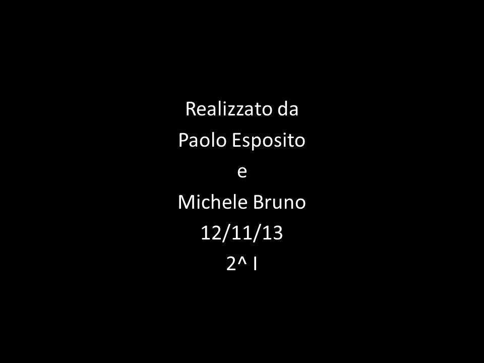 Realizzato da Paolo Esposito e Michele Bruno 12/11/13 2^ I