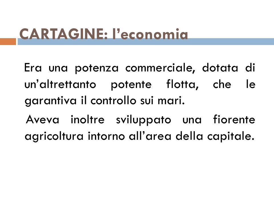 CARTAGINE: l'economia
