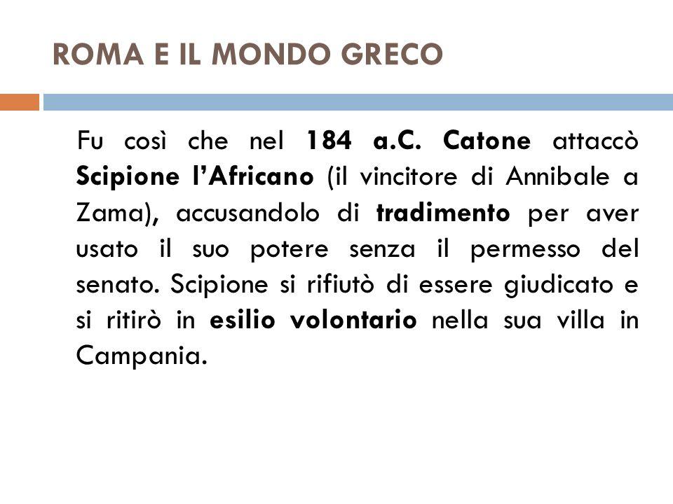 ROMA E IL MONDO GRECO