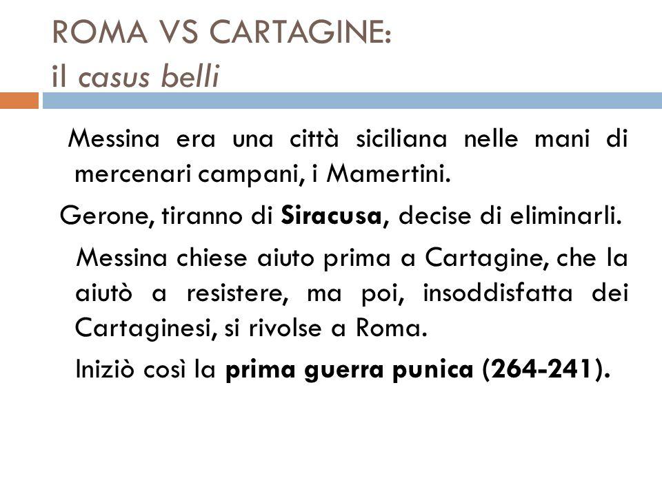 ROMA VS CARTAGINE: il casus belli