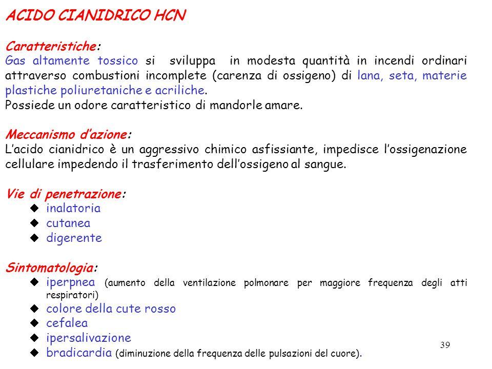 ACIDO CIANIDRICO HCN Caratteristiche: