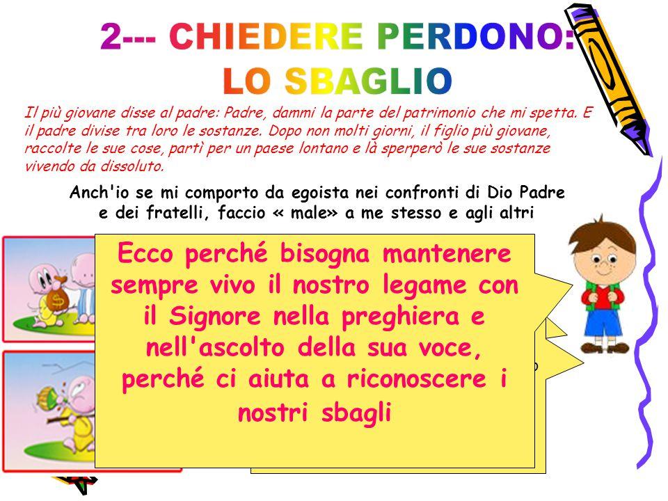 2--- CHIEDERE PERDONO: LO SBAGLIO