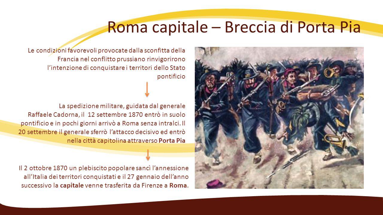 Roma capitale – Breccia di Porta Pia