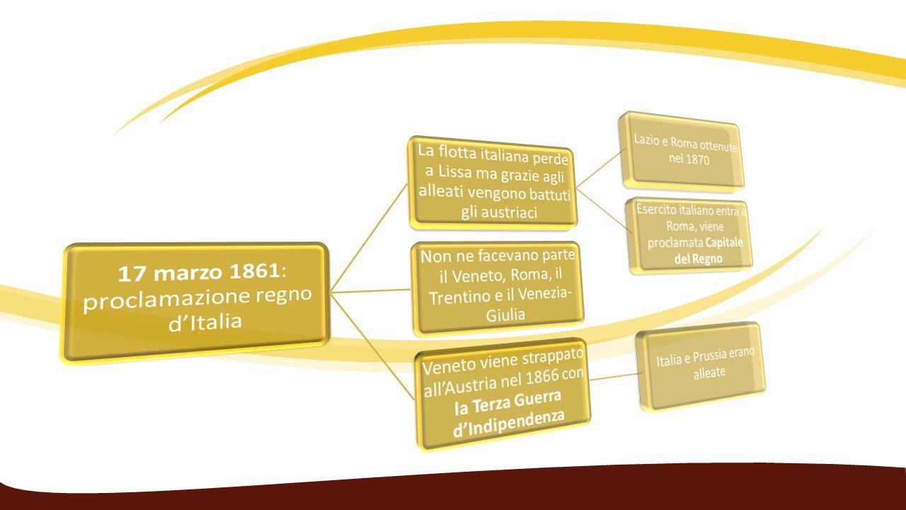 17 marzo 1861: proclamazione regno d'Italia