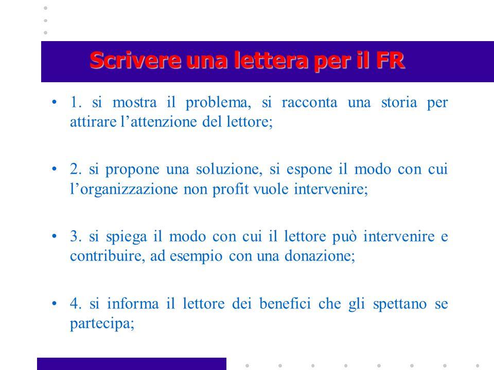 Scrivere una lettera per il FR