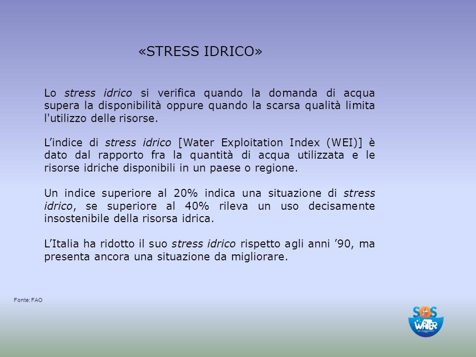 giovedì 20 aprile 2017 «STRESS IDRICO»