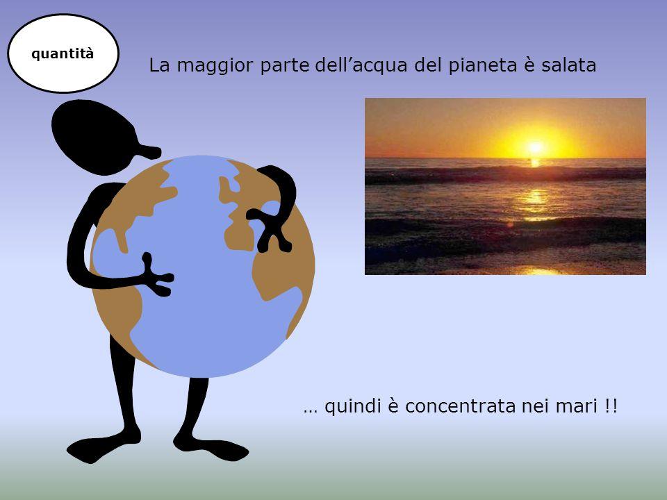 La maggior parte dell'acqua del pianeta è salata