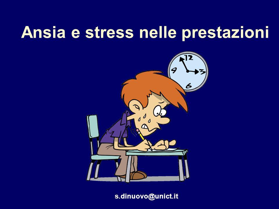 Ansia e stress nelle prestazioni