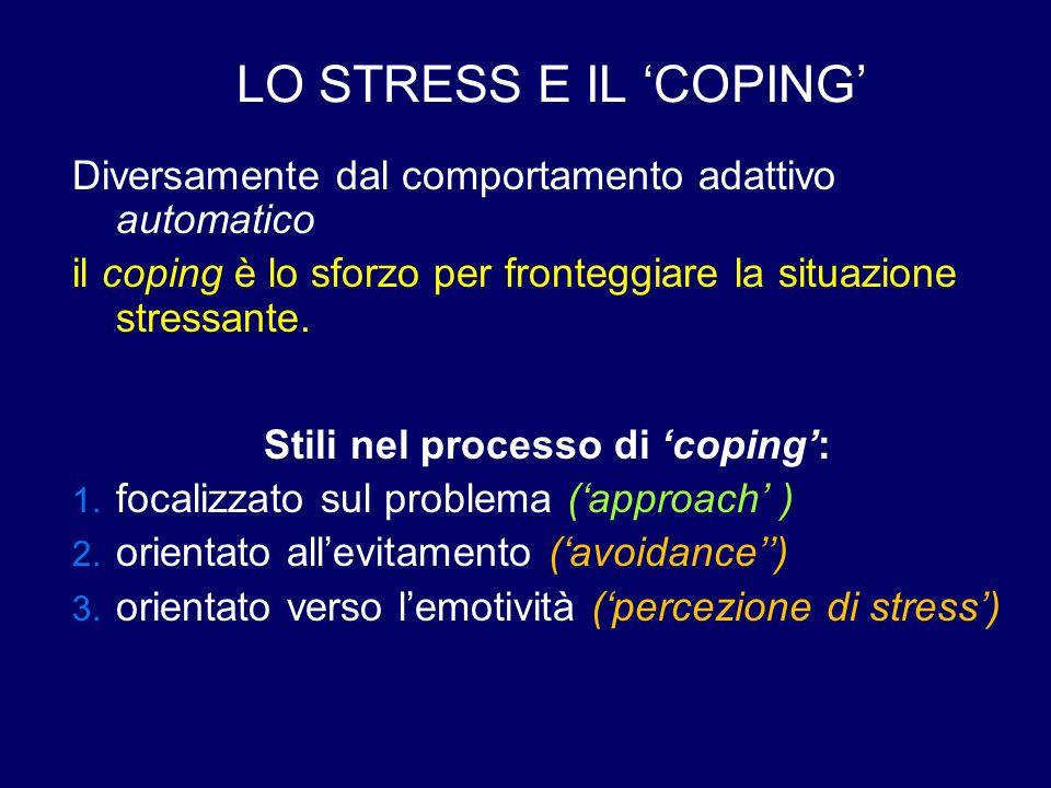 Stili nel processo di 'coping':