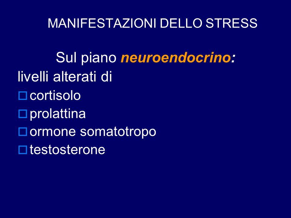 MANIFESTAZIONI DELLO STRESS
