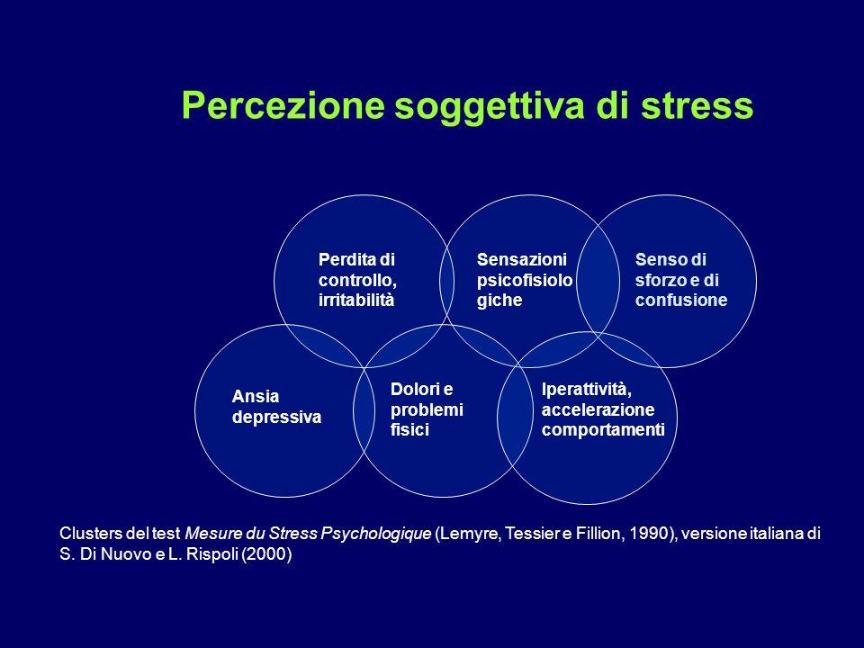 Percezione soggettiva di stress