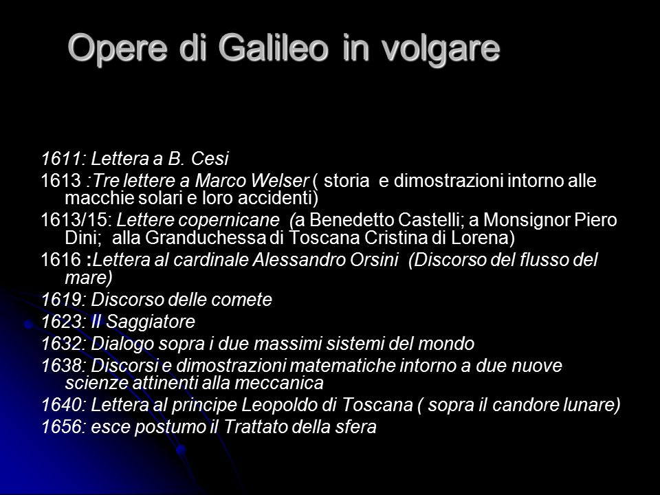 Opere di Galileo in volgare