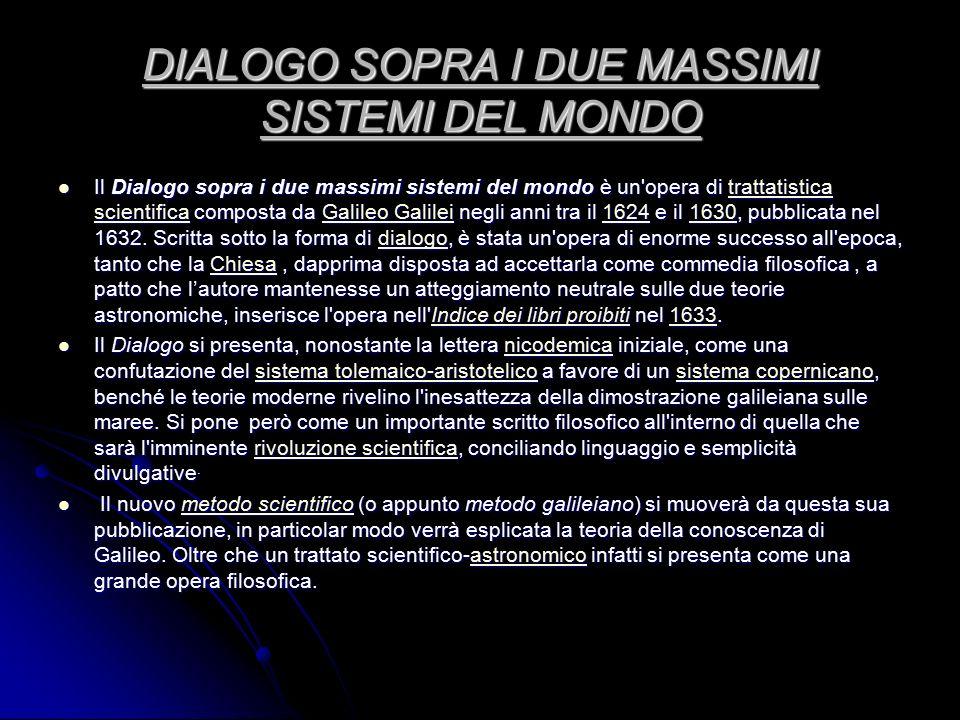 DIALOGO SOPRA I DUE MASSIMI SISTEMI DEL MONDO