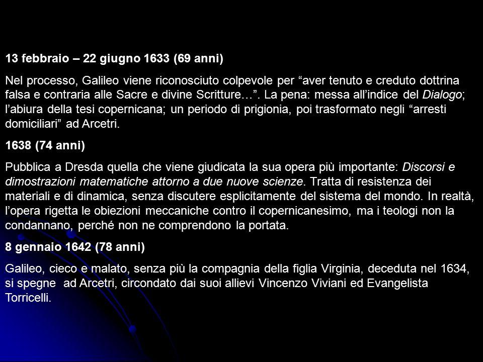 13 febbraio – 22 giugno 1633 (69 anni)