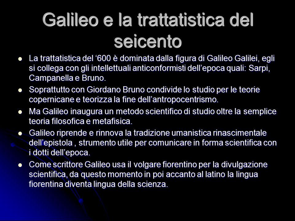 Galileo e la trattatistica del seicento