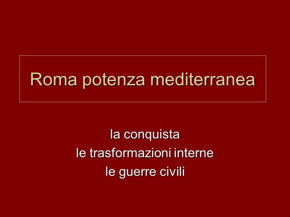 Roma potenza mediterranea