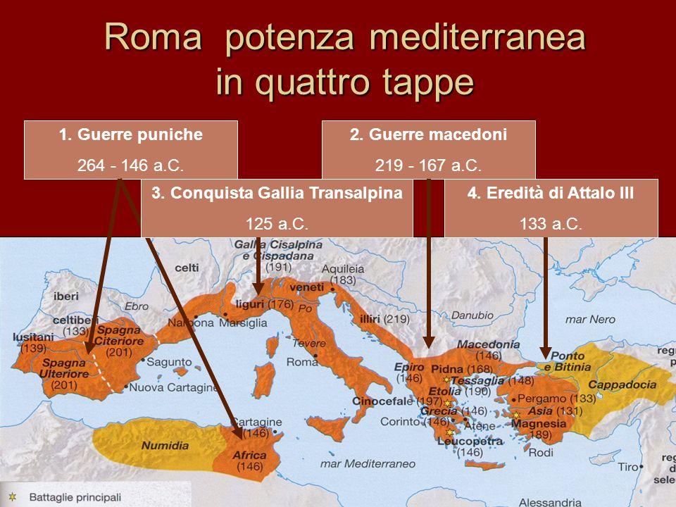 Roma potenza mediterranea in quattro tappe