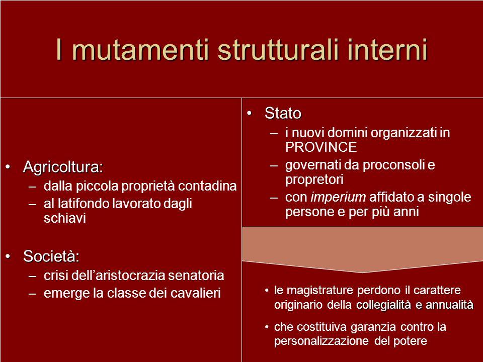 I mutamenti strutturali interni