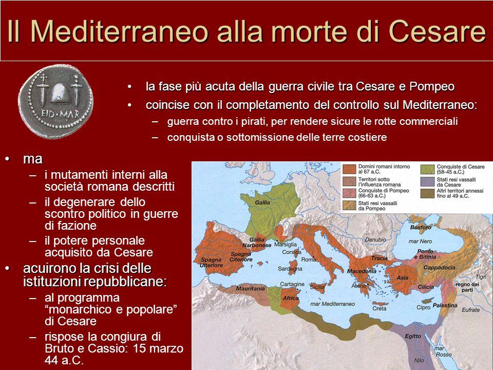 Il Mediterraneo alla morte di Cesare