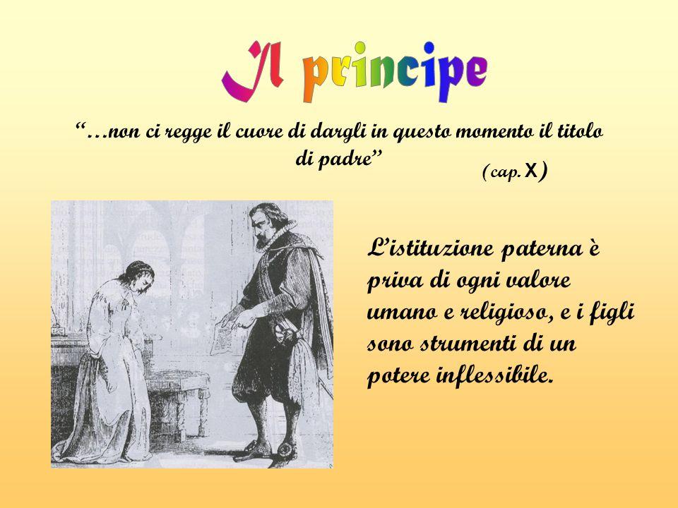Il principe …non ci regge il cuore di dargli in questo momento il titolo di padre (cap. X)