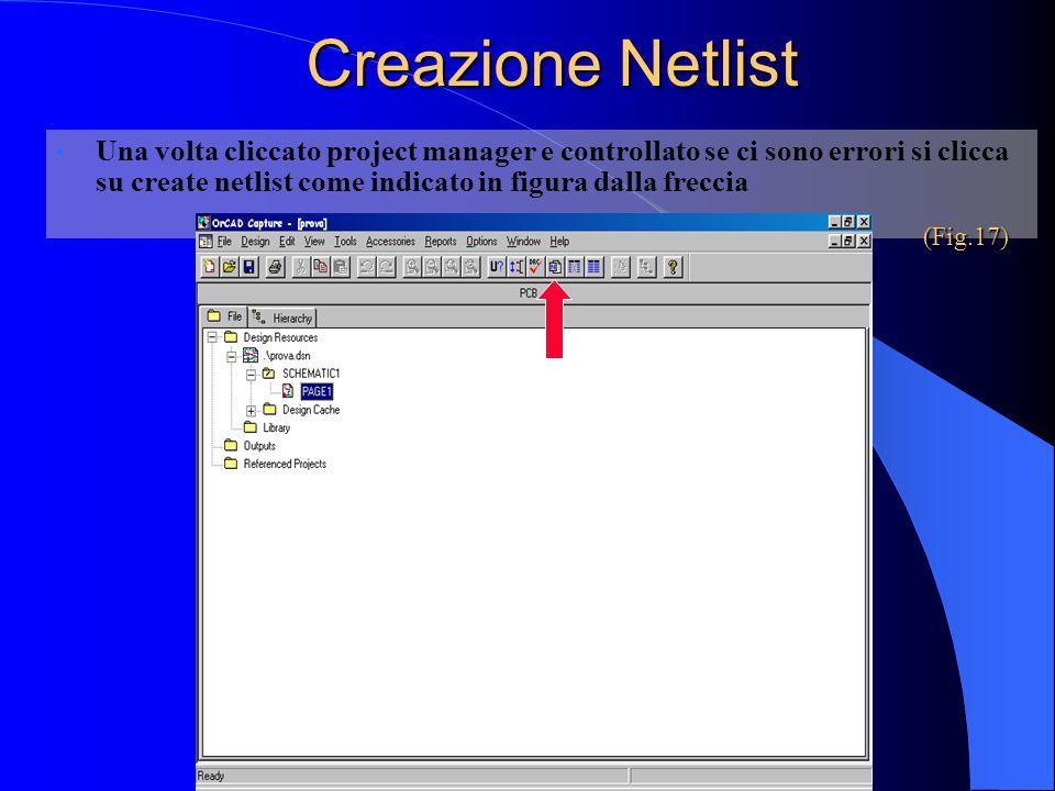 Creazione Netlist