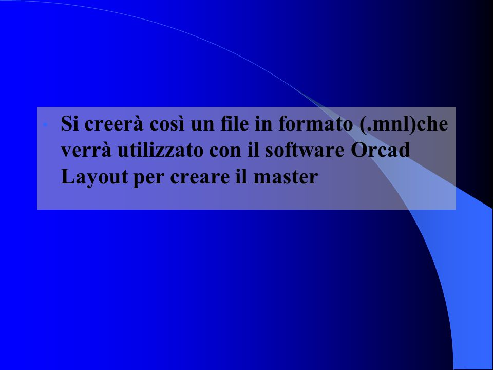 Si creerà così un file in formato (