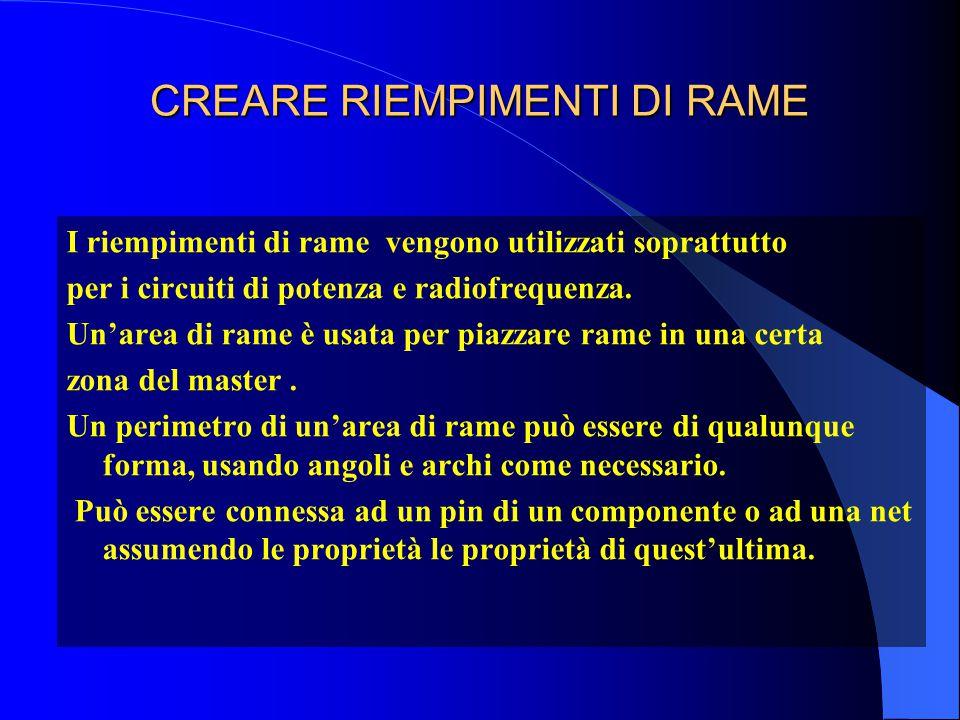 CREARE RIEMPIMENTI DI RAME