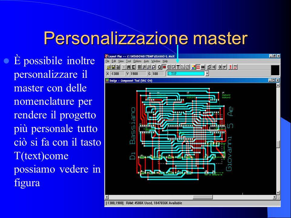 Personalizzazione master