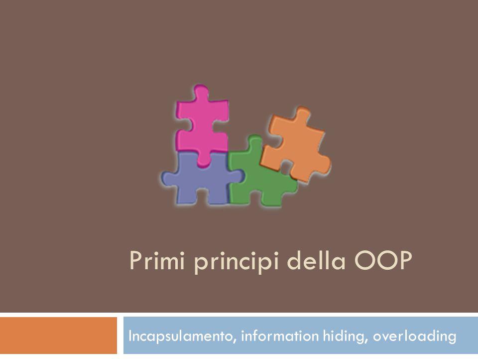 Primi principi della OOP
