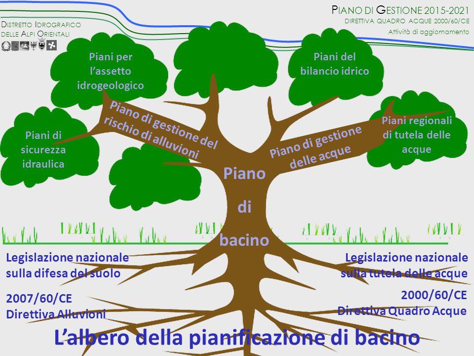 L'albero della pianificazione di bacino