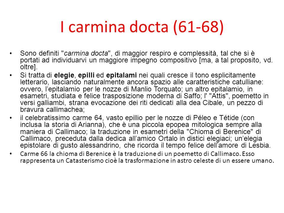 I carmina docta (61-68)