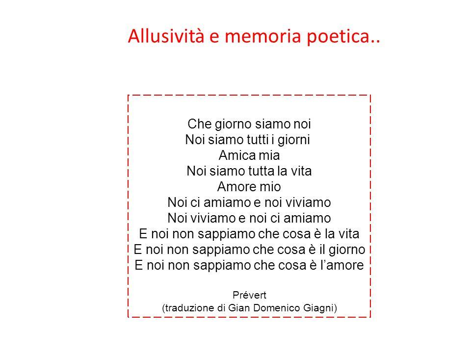 Allusività e memoria poetica..