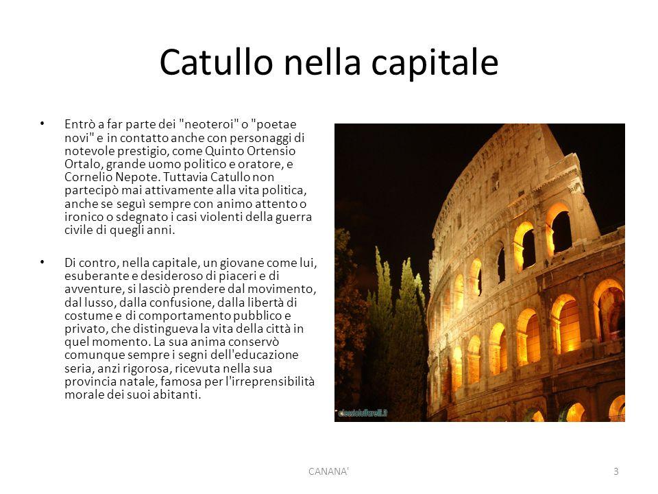 Catullo nella capitale